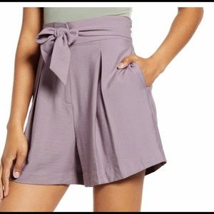 Leith Womens  Hammered Shorts Pockets Purple 3X